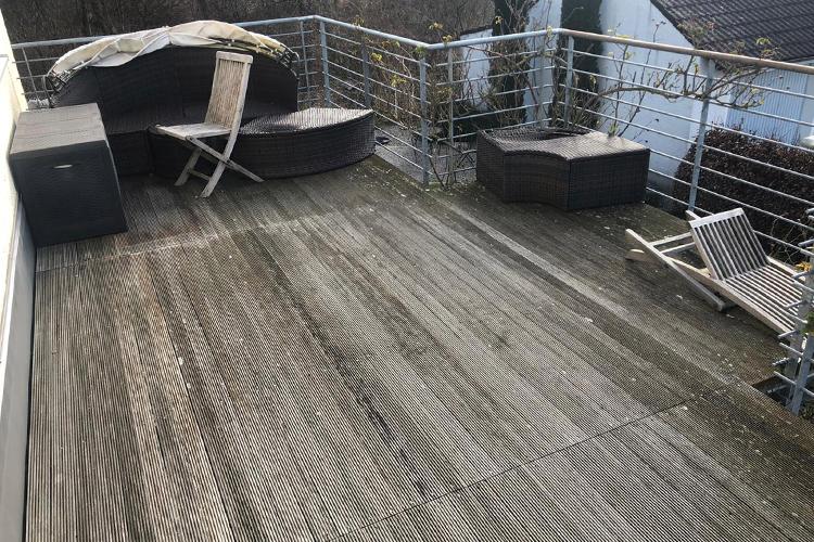 Balkonboden Holzdekor