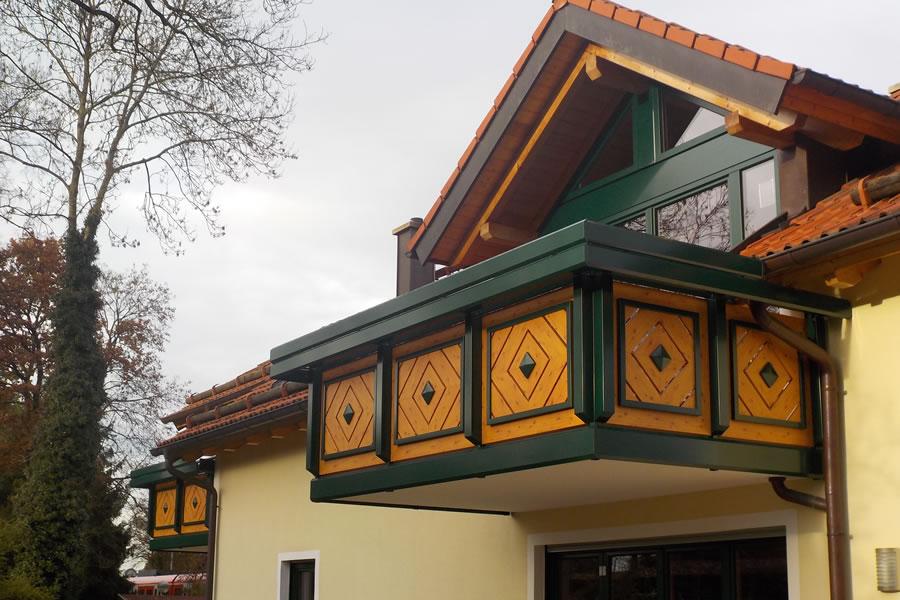 balkongel nder alu holzoptik wood art. Black Bedroom Furniture Sets. Home Design Ideas