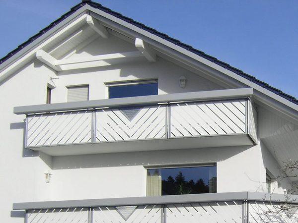 GEWA Balkonsysteme Balkongeländer Aluminium Transparent