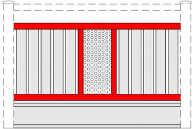 GEWA Balkongeländer Feld Transparent 7