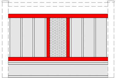 GEWA Balkongeländer Feld Transparent 8