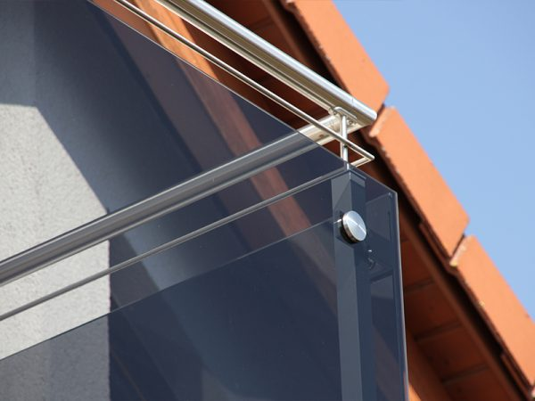 GEWA Balkonsysteme Balkongeländer Aluminium Glas