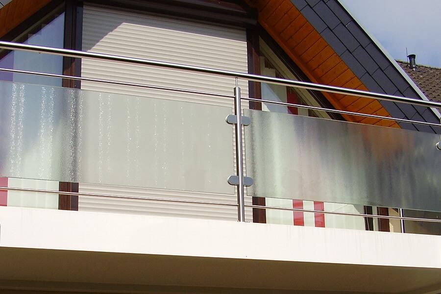 balkongel nder edelstahl glas