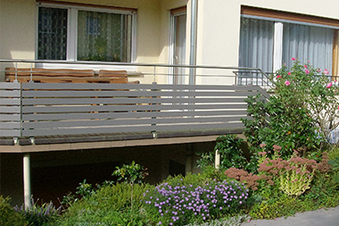 Terrasse Mit Geländer terrassengeländer