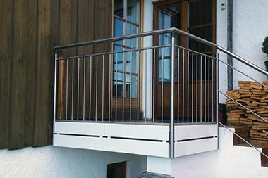 Geländer Außentreppe Edelstahl