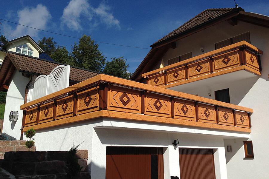 GEWA Balkonsysteme Geländer Dachterasse Aluminium Holzoptik