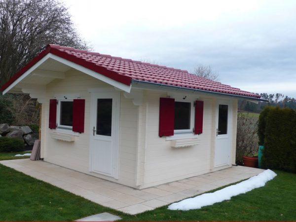 GEWA Balkonsysteme Gartenhaus Holz weiß