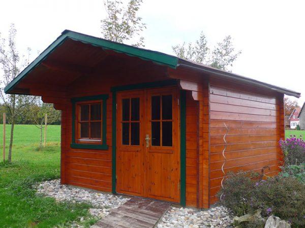 GEWA Balkonsysteme Gartenhaus Holz natur
