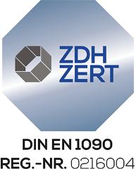 GEWA Balkonsysteme Zertifizierung ZDH ZERT DIN EN 1090